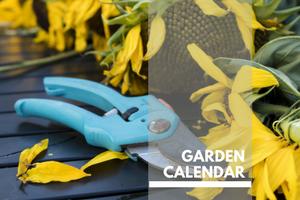 Garden Calendar Plants Page